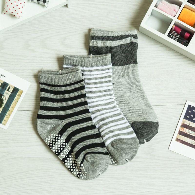 12 Pairs Baby Toddler Kid Sock Boy Girl Non Skid Anti Slip Knit Ankle Grip Sock 5