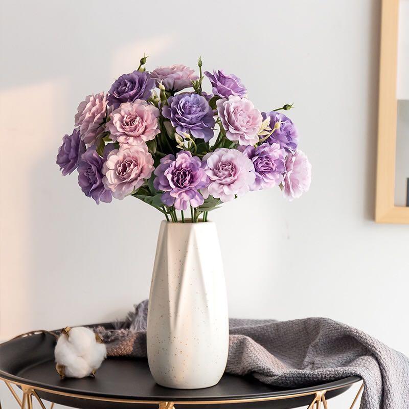 1 bouquet de 10 artificielle pivoine thé Rose soie fleurs artificielles fleurs de mariage bricolage famille jardin fête décoration fleurs en soie