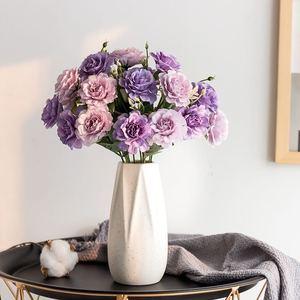 1 bunch of 10 artificial Peony Tea Rose carnation silk artificial flower wedding flowers DIY family garden party decoration
