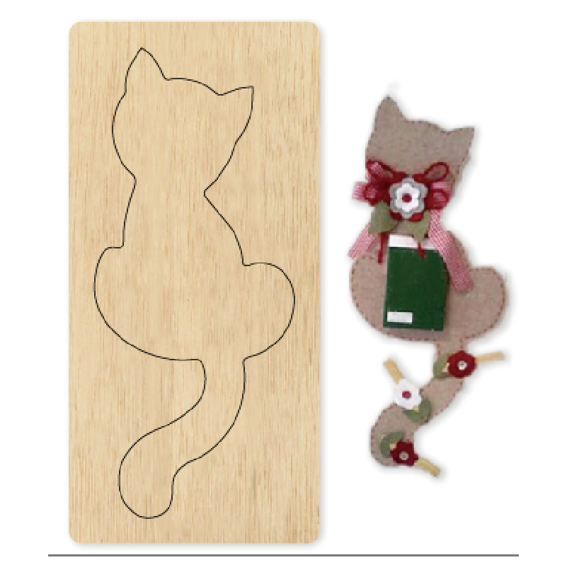 Cute cat handmade Wooden die Scrapbooking 2020 New Cutting Dies fit common machine with cover pad