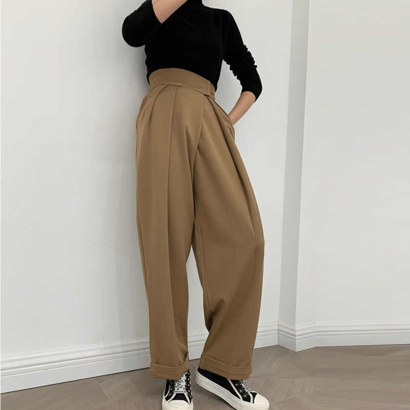 Femmes Arc-en-Rayures Pantalon Jambe Large Pantalon Paperbag Taille Haute Fête