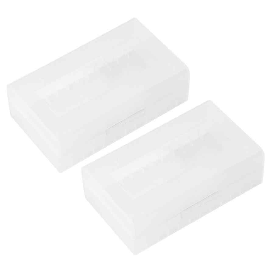 Novo 2 pces 2*20700/21700 caixa de suporte da bateria recipiente caixa de armazenamento de bateria à prova dwaterproof água caso