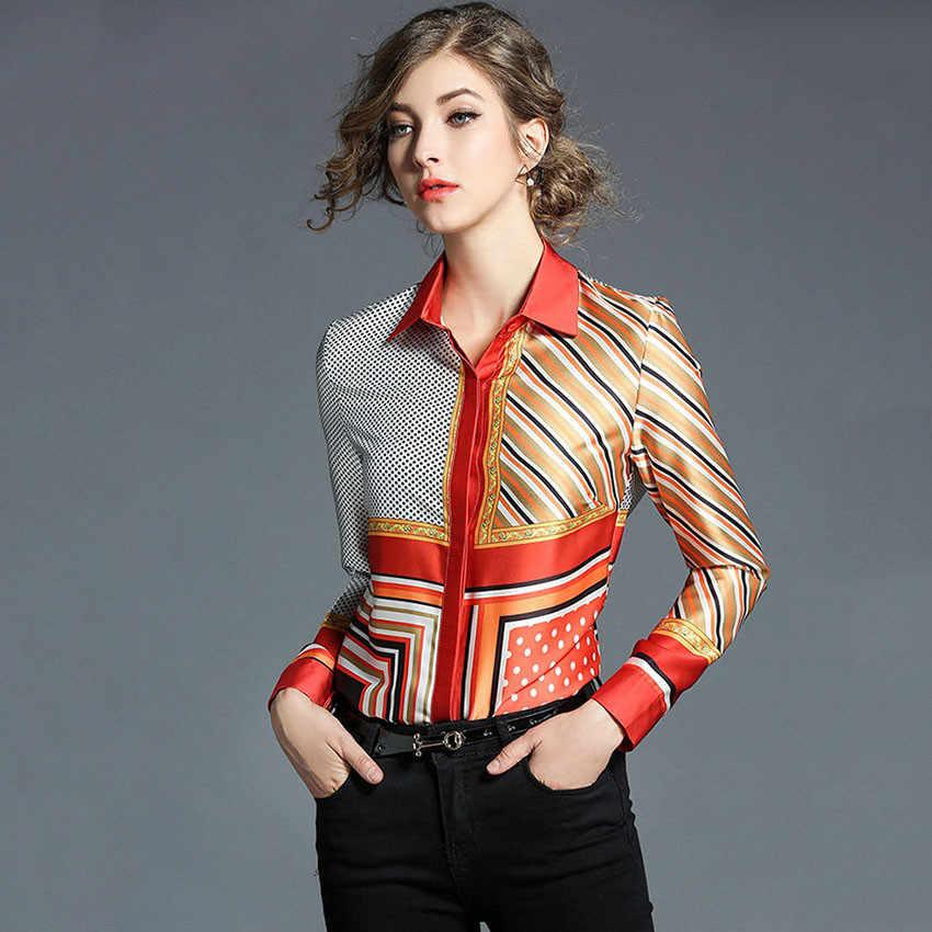 2020 New Fashion Designer Brand Shirt Women Long Sleeve Elegant Blouse Tops Ladies Office Shirts Blusa Mujer Blusa Feminina Blusas Femininas Mujer Blusasblouse Brand Aliexpress