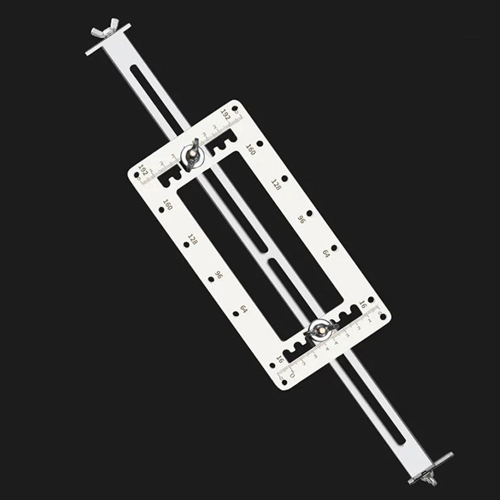 Drill Guide Locator Hole Drilling Opener Stainless Steel Template Door Cabinets Handle Hole Locator For Woodworking Tool