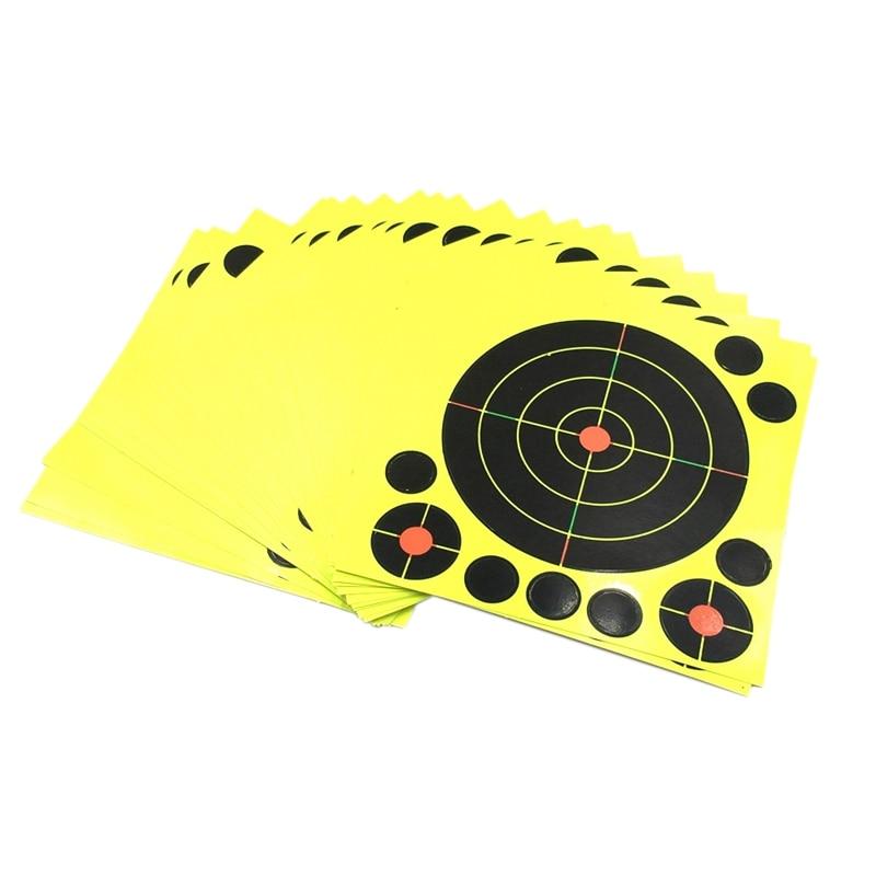 10 Sticks Per Pack Splash Flower Target 8-Inch Adhesive Reactivity Firing Target Aim For Hunting