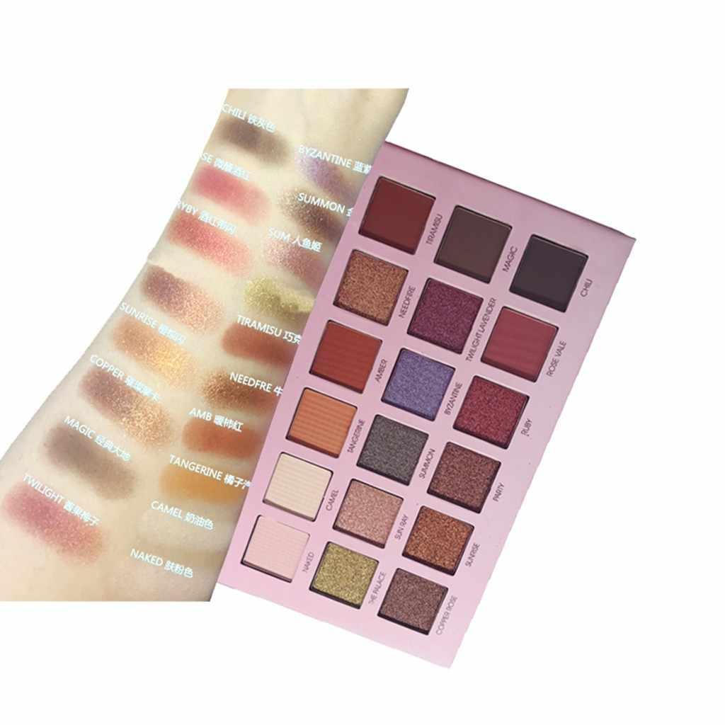 虹 18 色アイシャドウ真珠光ダム高輝度カラーメーキャップ蛍光パウダーパレットグリヌード化粧品アイシャドウ