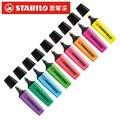 STABILO Boss 70 оригинальные ручки для хайлайтера Ассорти 9 цветов Упаковка из 9 наборов долото 2 5 мм