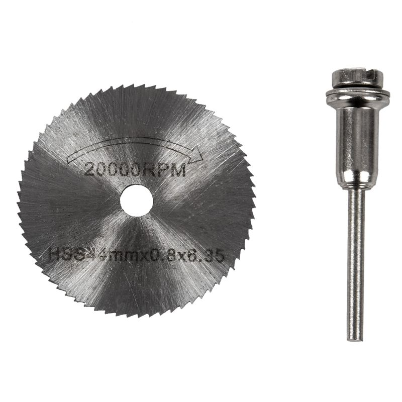 7x HSS Circular Wood Cutting Saw Blade Discs Mandrel Mini Drill For Rotary Tool