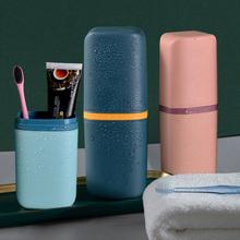 2021 przenośne na szczoteczkę do zębów pojemnik na pudełko na zewnątrz podróży Camping przechowywanie szczoteczki do zębów organizator Case akcesoria łazienkowe łazienka pasta do zębów pole tanie tanio dozzlor CN (pochodzenie) Z tworzywa sztucznego toothpaste organizer