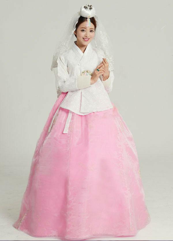 Hanbok Dress Traditional Korean Bride Wedding Hanbok DANGUI Korean Royal Costume