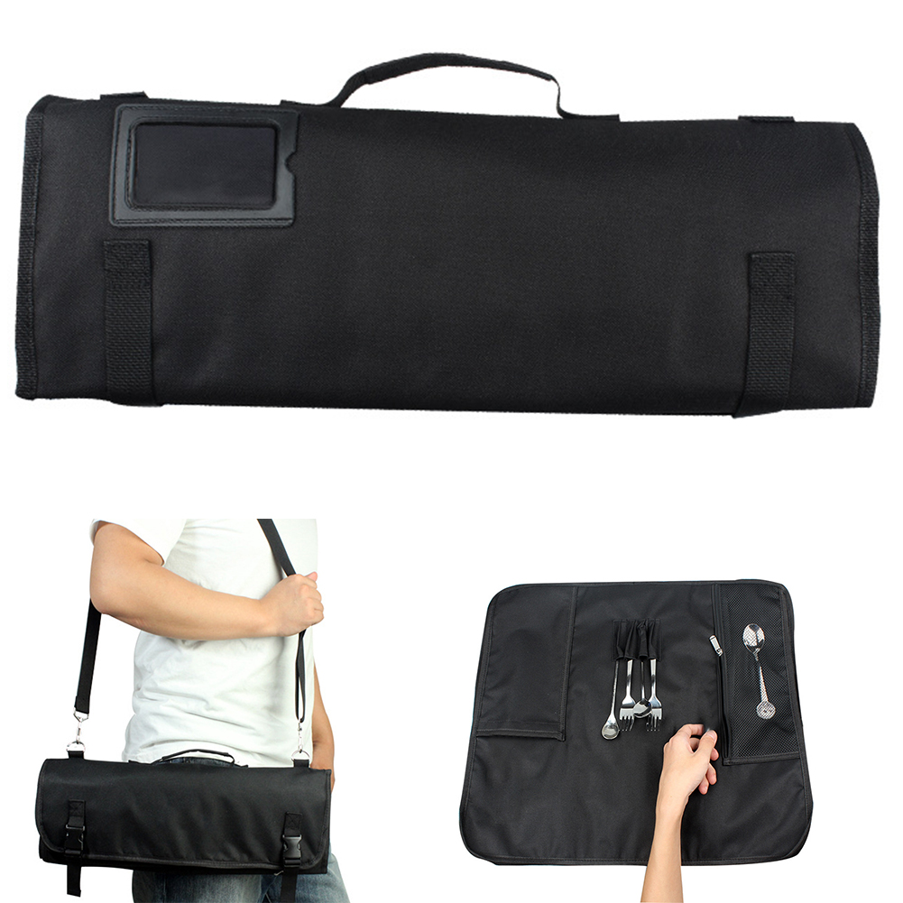 Accessories Roll Multifunctional Pack Portable Large Capacity Chef Knife Bag Kitchen Oxford Cloth Strap Storage 8 Pocket Slots