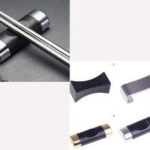 Visual Touch Alloy Chinese Chopstick Rest Chopsticks Holder Spoon Stand Rack Pillow Shape Frame Art Craft Kitchen Tools