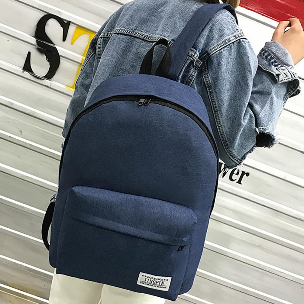 Mens backpack large capacity casual fashion lightweight Oxford cloth college backpack