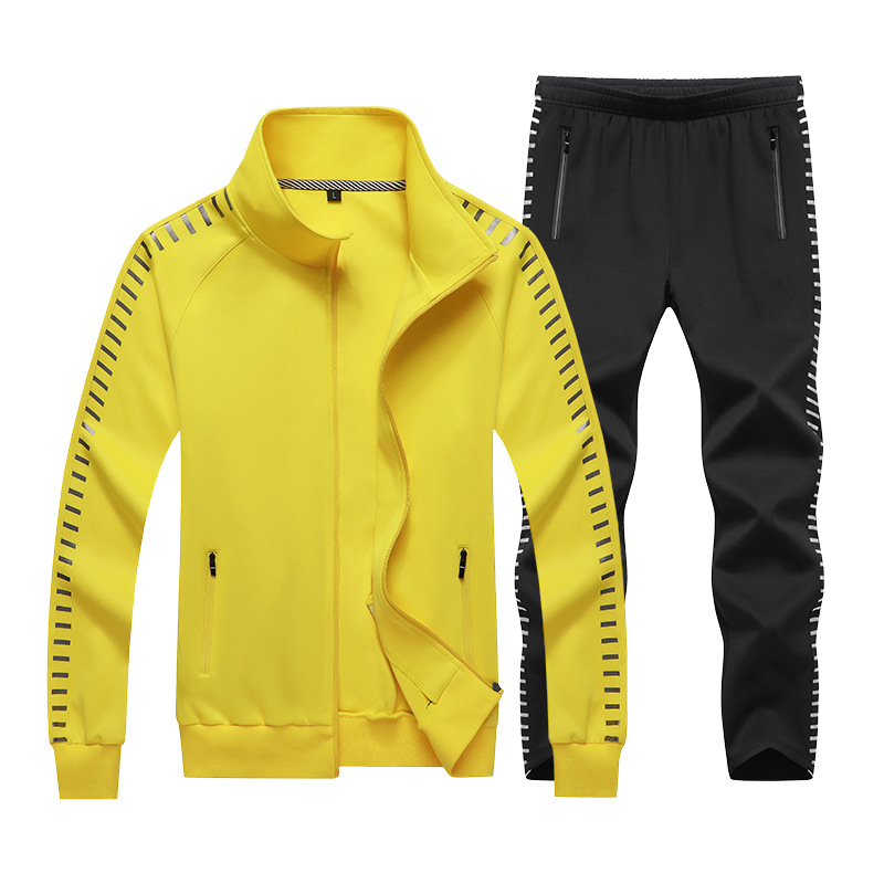 2019 Spring And Autumn New Style Couples Sports Clothing Set Two-Piece Set Running Men And Women Students Casual Loose-Fit 168