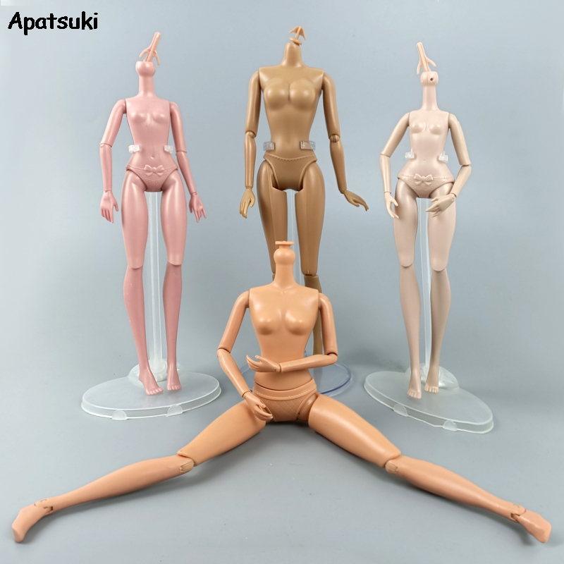 1pcs Mix Style Movable Joints Female Doll Body 1/6 Plastic Naked Nude Body For 11.5