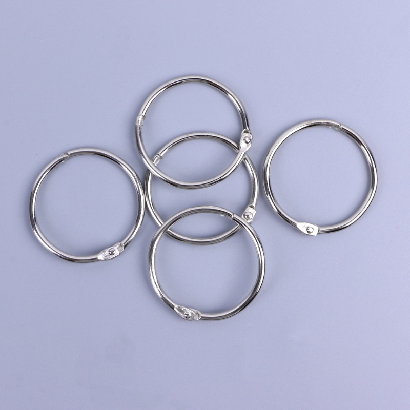 Metal Loose Leaf Book Binder Hoop Ring Multifunctional Keychain Circle DIY Album