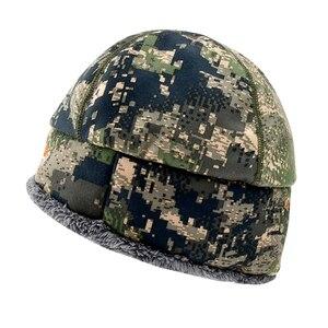 Image 5 - 2020 Winter Hat Men Sitka Hunting Beanie Camouflage Warmest Windstopper Primaloft Soft Fur SITKA Cap Man Sports Thermal One Size