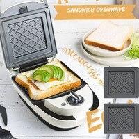 220V Elektrische Sandwich Maker Getimede Wafel Maker Ontbijt Wafel Machine Multifunctionele Broodrooster Bakken Takoyaki Pannenkoek 600W