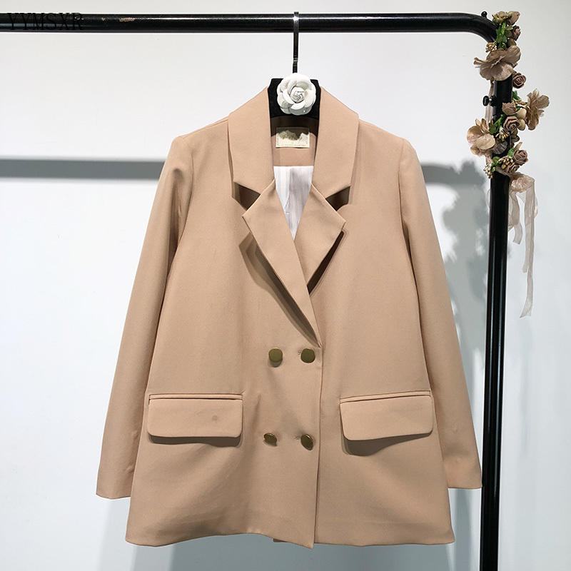 High-quality women's jackets Feminine suit 2020 new spring and autumn elegant double-breasted loose ladies blazer Casual coat