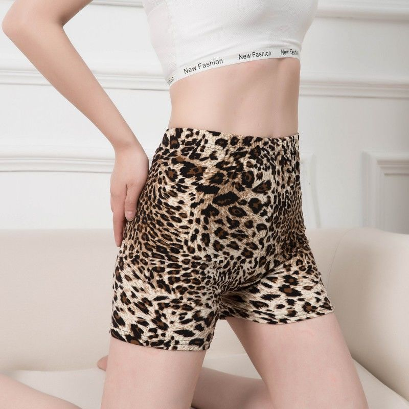 Women Jogging Sexy Shorts Leopard Gym Fitness Elastic Waist Printed Push Up Sports Plus Size Shorts Casual Short Summer