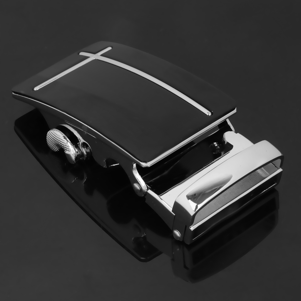 2x Mens Belt Buckle Automatic Slide Click Buckle Ratchet Belt Buckle