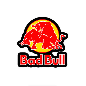 Car Stickers Decor Motorcycle Decals Funny Bad Red of Bull Graphics Decorative Accessories Creative Waterproof PVC,15cm*15cm