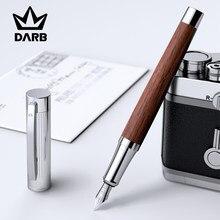 DARB gülağacı ve ceviz Metal dolma kalem yüksek kaliteli EF/F ucu iş ofis yazma hediye kutusu mürekkep kalemler