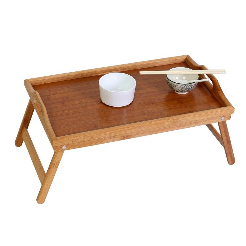 Folding Tray Tray Tea Tray Rectangular Bamboo Wooden Tea Set Tea Cup Tray With Foot Bed Dish Lazy Tray LB10713