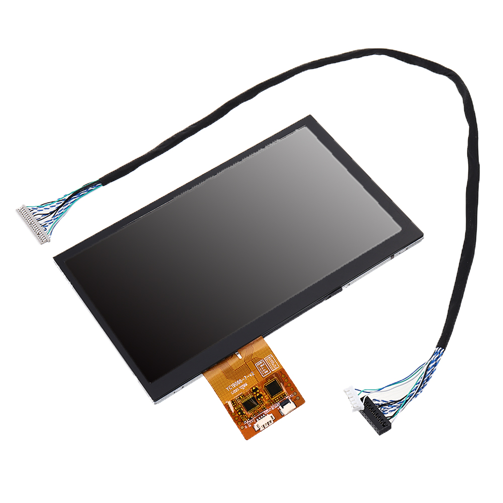 NEW 7 Inch LVDS 1024x600 HD LCD Screen IPS Full View Angle Capacitive Touch G + G USB Interface Industrial Display Module