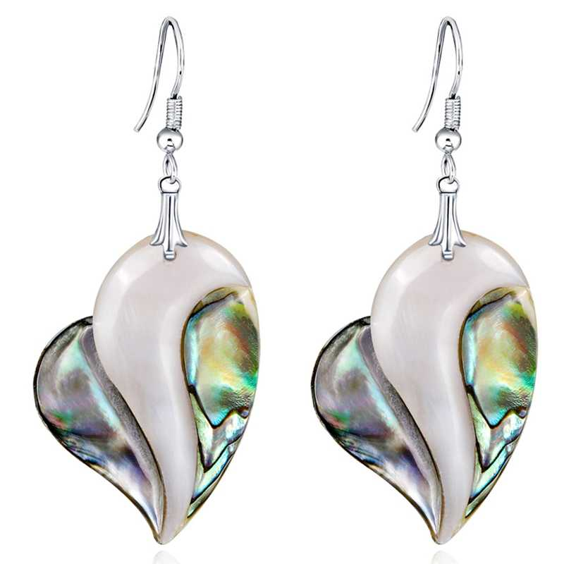 New Natural Stone Oval Earrings for Women Fashion Designer Inspired Abalone Shell Large Earrings 6 Colors Jewelry Wholesale
