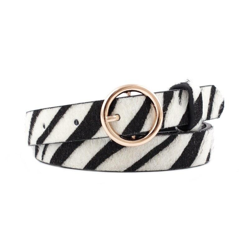 2019 New Fashion Leopard Belt Women Snake Zebra Leopard Print Waist Belt PU Leather Gold Ring Buckle Belts For Ladies Female