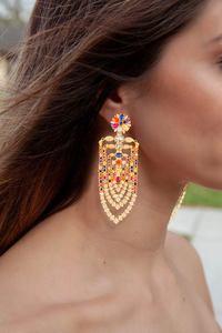 Image 3 - GODKI 75mm MAXI Size Charms Luxury Link Chain Tassel Drop Earring Women Full Mirco CZ Paved Cubic Zircon Wedding Fashion Jewelry