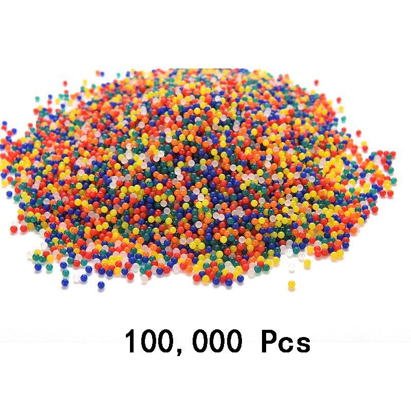 Abbyfrank 100,000 Pcs Soft Crystal Water Paintball Bullet Gun Toy Air Water Gun Accessories For P90 Toy Gun