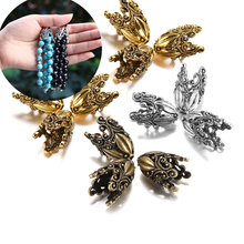 2pcs/lot Alloy Hollow Flower Beads Caps Various Shapes End Caps Connectors For DIY Earring Jewelry Making Accessroies Supplies