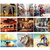 GATYZTORY Painting By Numbers Colourful Animals DIY Painting By Numbers Adults Frameless Landscape Paintings Child Bedroom Decor