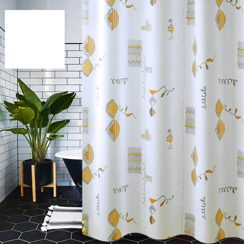 Shower Room Partition Shower Curtain Cloth Waterproof Bathroom Hanging Window Curtain Bathroom Shower Curtain Accessories