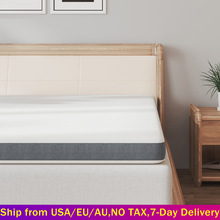 8cm/10cm Thickness Gel Memory Foam Mattress Topper with Breathable Bamboo Cover Pressure-Relief Foam Bed Mattress Pad All Size
