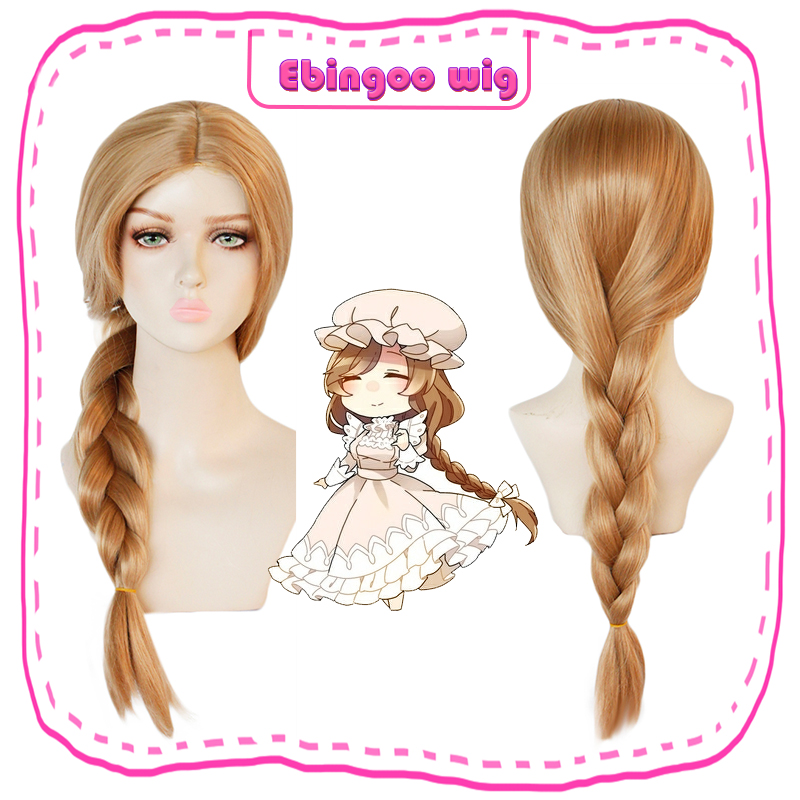Ebingoo Cells At Work Light Brown Blonde Braids Macrophages Long Synthetic Cosplay Wig For Women +Hair Cap