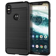 Carbon Fiber Case For Moto One Case For Moto One Vision P30 G7 Z3 Z2 G