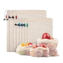 Produce-Bags Tare Organizing-Toys for Fruit Veggies Fridge Lightweight Drawstring Drawstring