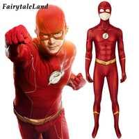 Mono con estampado de la temporada 5 de Flash, disfraz de superhéroe de Halloween, traje de Cosplay 3D Zentai
