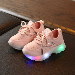LED Light Shoes Kids Children Girls Sports Casual illuminated Sneakers for Toddler Boys Luminous Mesh-Air Knitting Student