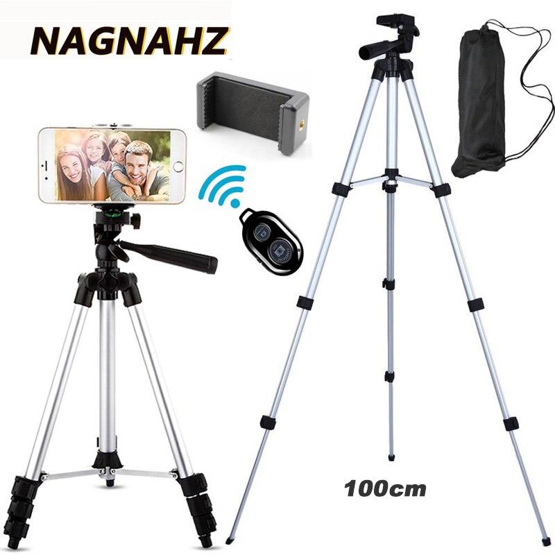 Tripé leve para câmera e celular, suporte portátil para celular desktop, tripé para iphone, canon, sony, nikon