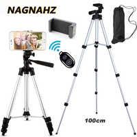 Trípode de cámara ligero soporte de teléfono portátil de escritorio móvil Tripode Para iPhone Canon Sony Nikon cámara de vídeo Para