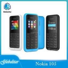 Nokia-teléfono móvil 105 reacondicionado, Original, Nokia 105, con Radio FM, Tarjeta SIM única o tarjeta SIM Dual, envío gratis