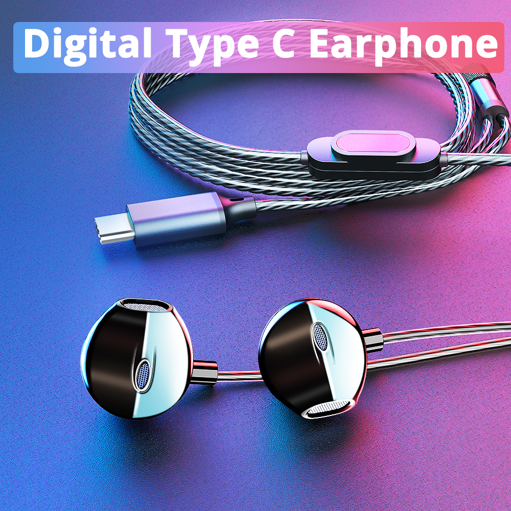 2019 Langsdom Digital Type C Earphone With Mic Hifi Bass Headset For Samsung In Ear Headphones For Auriculare Xiaomi USB C Phone