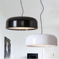 British designer pendant Lamp Black White Flos Smithfield S Suspension lamp 48cm 60cm Replicas E27 Bedroom Kitchen island lamp