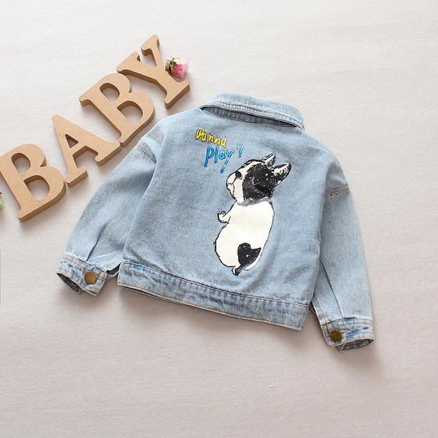 Denim Jacket Children Kids Fashion Cowboy Coat Leisure Clothes For Boys Girls Autumn Winter Outerwear Baby Casual Jean Coats 2