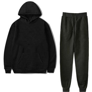 Conjuntos de Sudadera con capucha para mujer, ropa de calle, Sudadera negra para mujer, sudaderas con capucha Harajuku para mujer, Otoño, conjuntos de sudadera personalizados para mujer