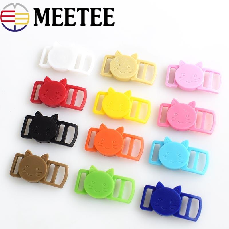 25/50/100pcs Mixed Color Release Buckles Cat-Head Plastic Safty Breakaway for Cat Collar Paracord Webbing Apparel Accessories